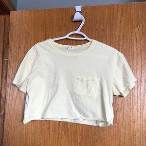 Light yellow cropped top